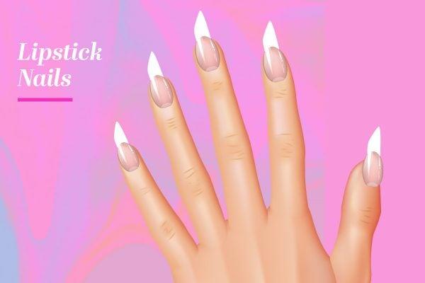 nail shapes lipstick