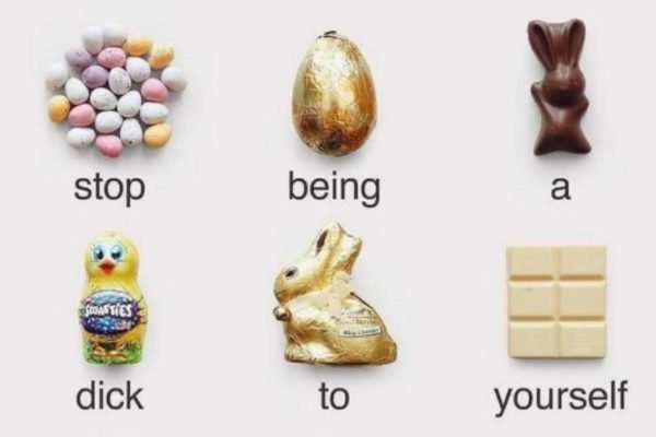 This viral meme is for anyone feeling guilty for eating chocolate this Easter.