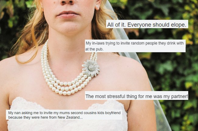 Wedding stress: 50 brides on what stressed them out the most