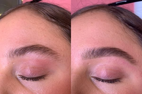 bushy eyebrows before and after