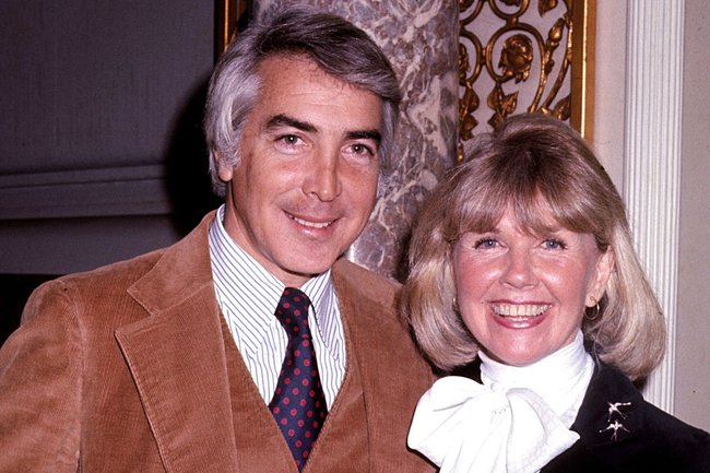 Doris Day and fourth husband Barry Comden.