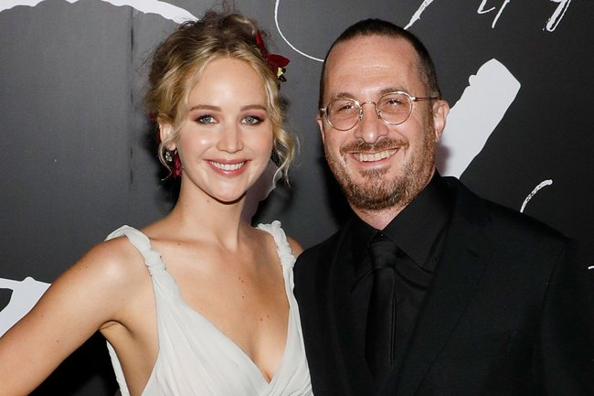 Jennifer Lawrence and Darren Aronofsky.