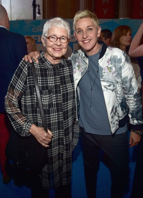 Ellen Degeneres and her mum