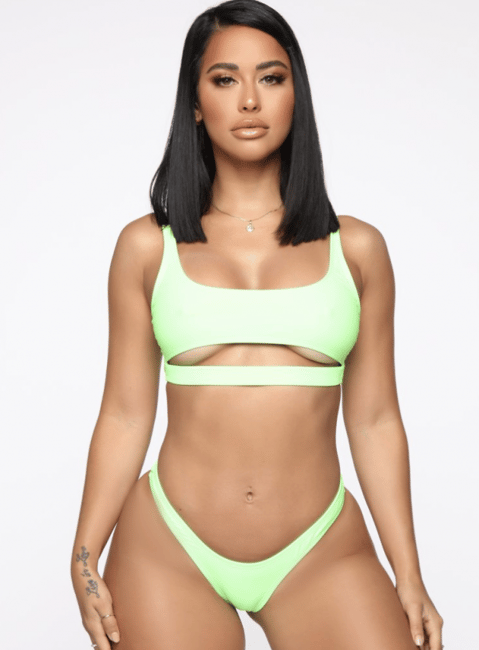 Oh. This isn't what my breasts look like. At all. Image via Fashion Nova.
