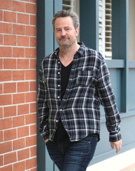 Friends Star Matthew Perry Looks Downcast As He Steps Out Two Months After Splitting