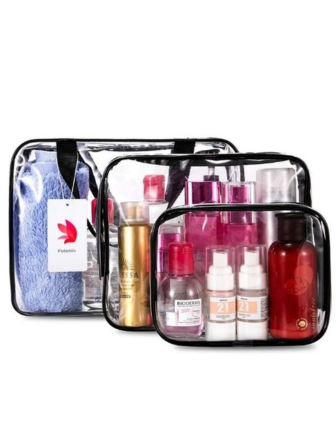 SYSY 3pcs TSA-Approved Travel Toiletry Bag Set