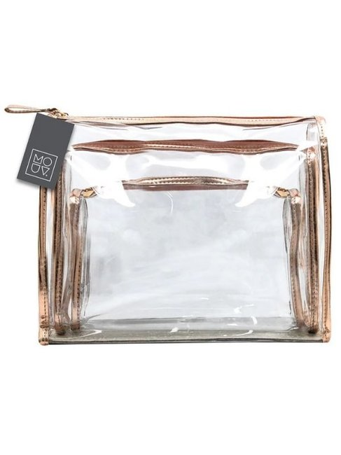 Target Mouv Trio Cosmetic Bags Set in Black or Rose Gold