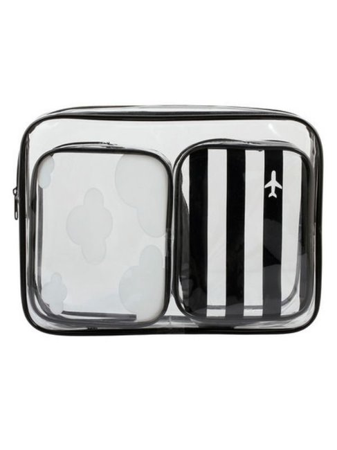 reputable site ba720 12a63 The clear $8 Kmart travel bag to pack in your carry on luggage.