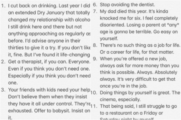 """""""Trust me, you're good enough."""" A man has shared his 38 life lessons and they're spot on."""
