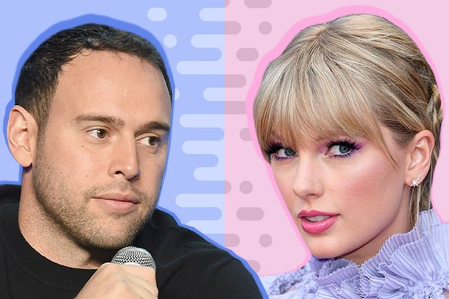 taylor swift scooter braun drama