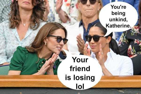 """Kate, can you please stop booing her? It's embarrassing."""