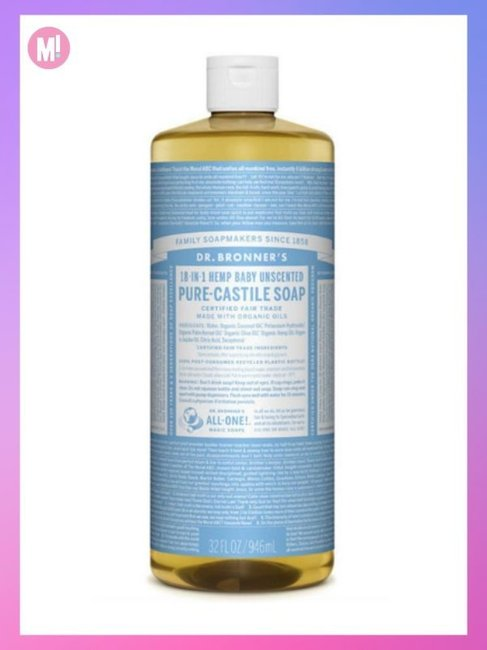 Dr Bronner's Pure-Castile Liquid Soap in Baby Unscented Mild