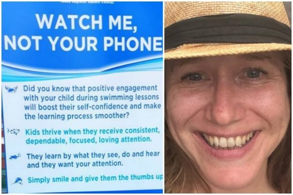 'Watch me, not your phone!' The hysteria over parents on phones has to stop.