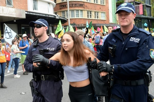 Four 16-year-old girls were among 30 climate change protesters arrested in Sydney, & more in news in 5.