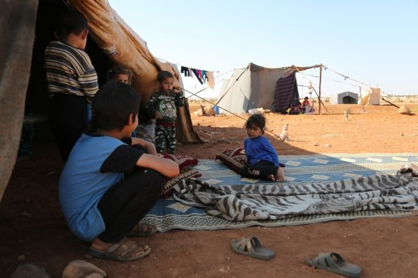 Displaced people in Syria