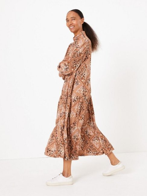 Marks & Spencer Floral Print Relaxed Midi Dress