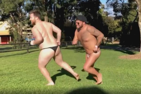 One man wore a g string to Adventure World to test their