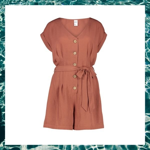 Short Sleeve Button Playsuit