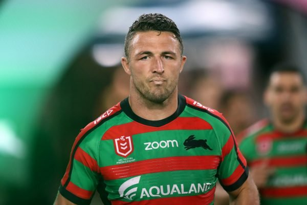 Police investigating AVO claim made against NRL star Sam Burgess by father-in-law, Mitchell Hooke.