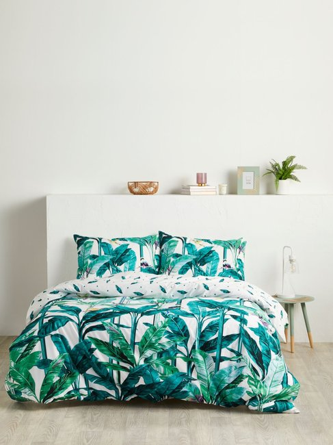 House & Home Rainforest Reversible Quilt Cover Set