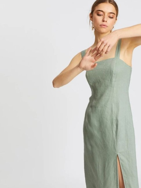 AERE Square Neck Dress