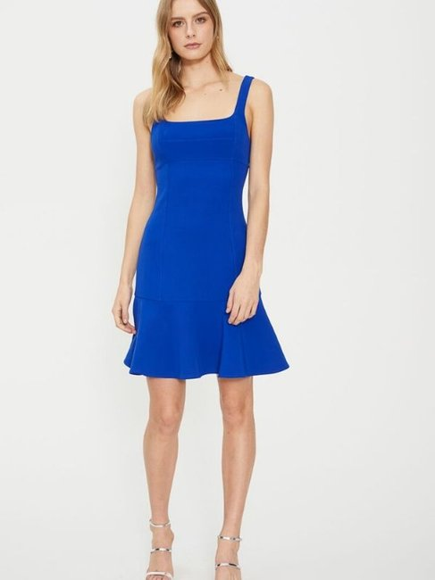 Cooper St Mila Fitted Mini Dress in Cobalt