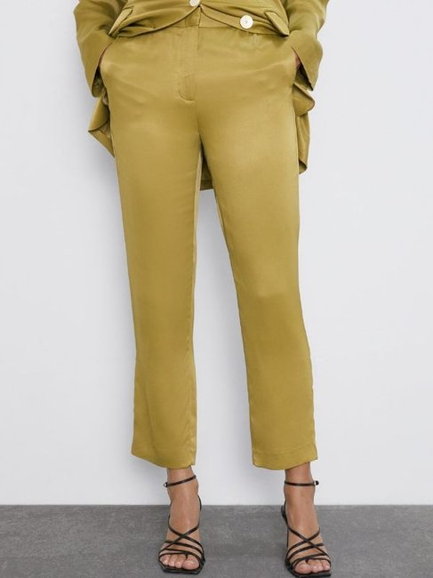 Zara Satin Finish Trousers
