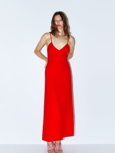 Zara Long Strappy Dress