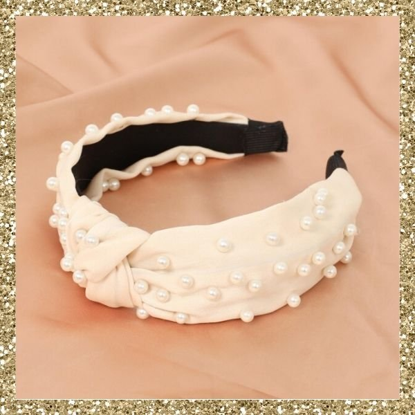 Showpo Waiting For You Headband In Cream And Pearl