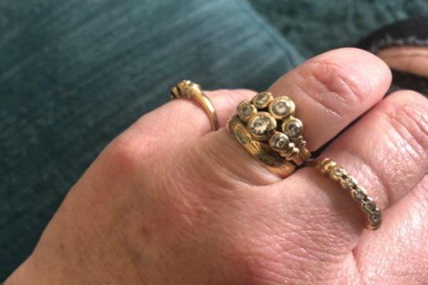 Engagement rings women share