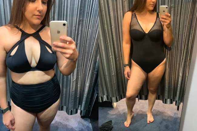 size 14 black swimwear
