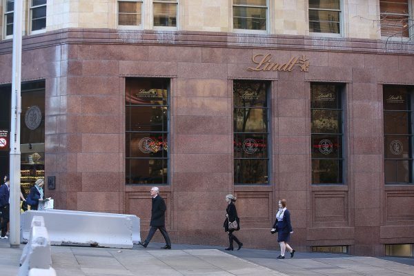 The Lindt Cafe in Martin Place. Image via Getty.
