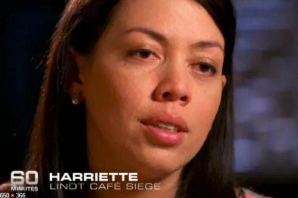 Harriette was a staff member held hostage inside the Lindt Cafe. Image via Getty.