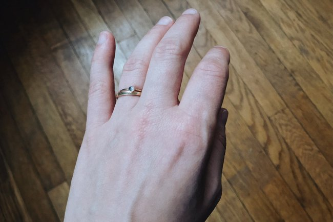 underwhelming engagement ring
