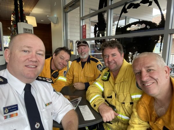 Shane Fitzsimmons and firies