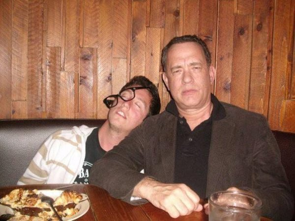 Tom Hanks pretend drunk