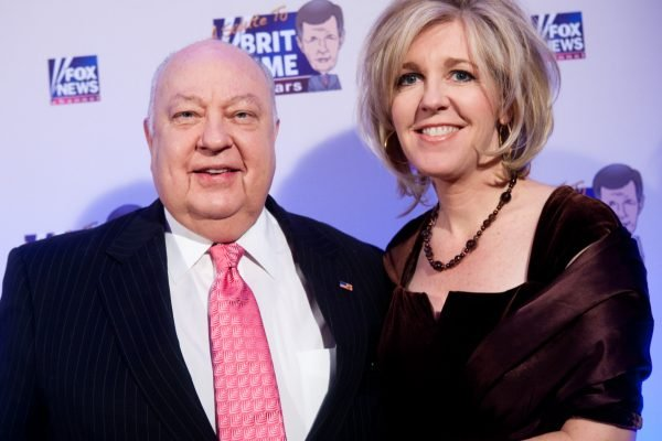 Elizabeth Ailes with husband Roger. Image: Getty.