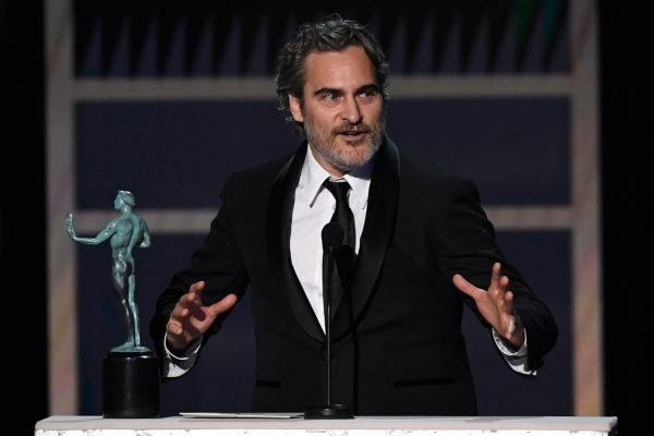 Joaquin Phoenix at the SAG Awards. Image: Getty.