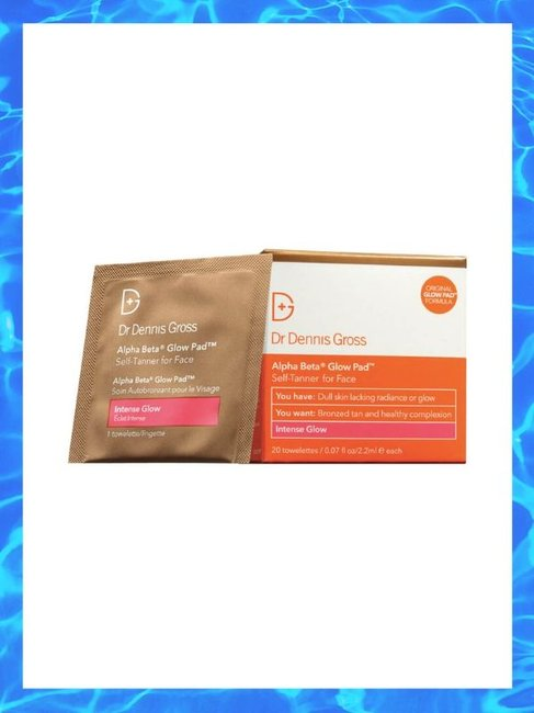 Dr Dennis Gross Alpha Beta Glow Pad Intense Glow Self Tanner For Face