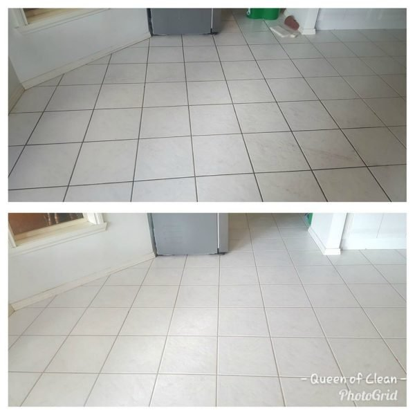 cleaning grout hack