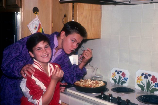 River Phoenix and Joaquin Phoenix