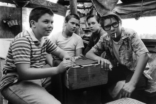 Jerry O'Connell, River Phoenix, Will Wheaton and Corey Feldman