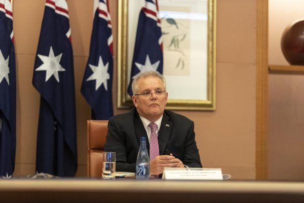 Prime Minister Scott Morrison Attends G20 Virtual Summit
